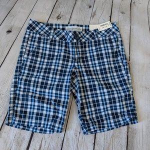 🆕NWT Aeropostale Plaid Shorts, Blue and White